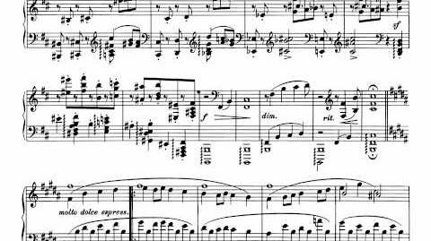 Brahms - Rhapsody in b minor Op. 79 No. 1 (with sheet music)