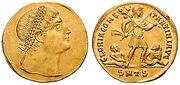 Solidus multiple-Constantine-thessalonica RIC vII 163v.jpg