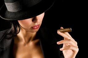 Tiri and her Cigar
