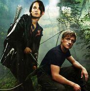 Katniss & Peeta in the arena promo