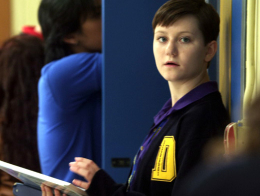 File:Adam In His Degrassi Uniform At Degrassi Leaning Up Against The Lockers Looking At Possibly Fiona.jpg