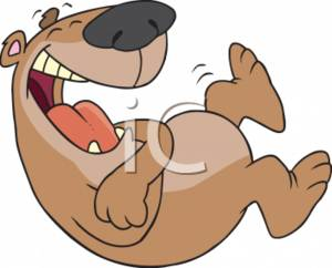 File:0511-0702-2316-5904 Brown Bear Laughing Hysterically clipart image.jpg