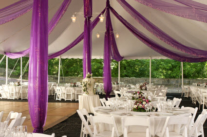 Image Outdoor wedding decorations reception tent.   Degrassi