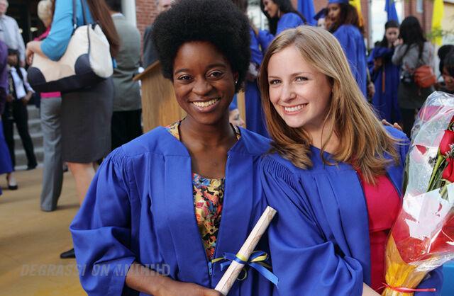 File:Chantay and Holly J. at graduation.jpg