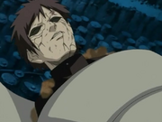 Gaara falls against deidara