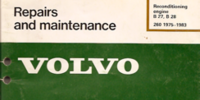 Volvo B27/B28 Engine Reconditioning Manual