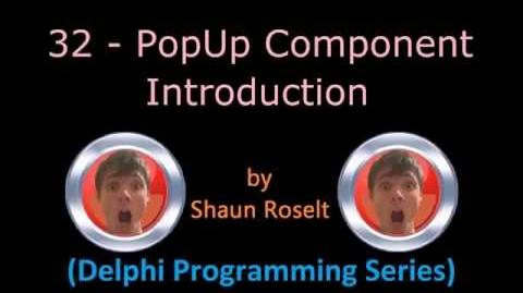 Delphi Programming Series 32 - PopUp Component Introduction.mp4