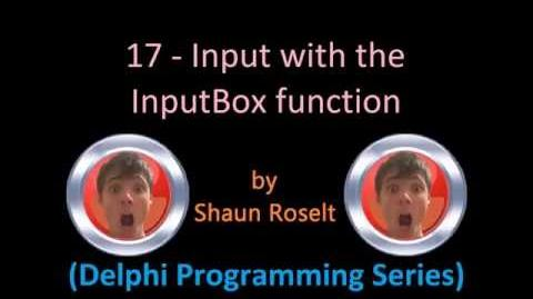 Delphi Programming Series 17 - Input with the InputBox function