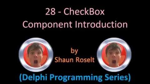 Delphi Programming Series 28 - CheckBox Component Introduction