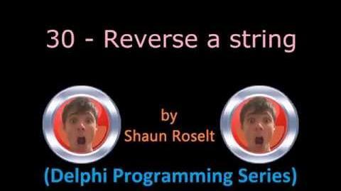 Delphi Programming Series 30 - Reverse a string
