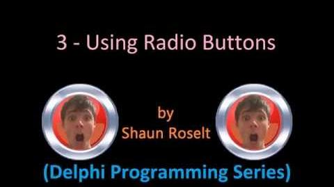 Delphi Programming Series 3 - Using Radio Buttons