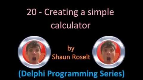 Delphi Programming Series 20 - Creating a simple calculator