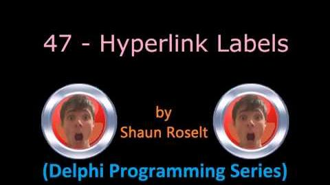 Delphi Programming Series 47 - Hyperlink Labels