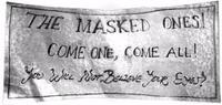 Masked Ones Banner