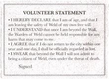 Volunteer statement