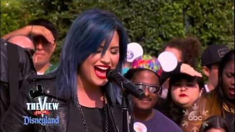 Demi Lovato Neon Lights The View