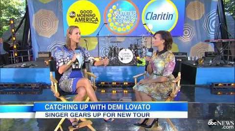Demi Lovato - GMA Interview - August 15th