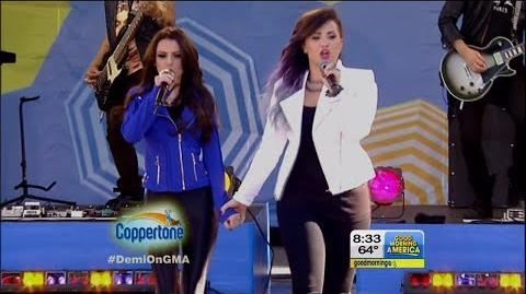 "Demi Lovato & Cher Lloyd Performs ""Really Don't Care"" on GMA LIVE 6-6-14"