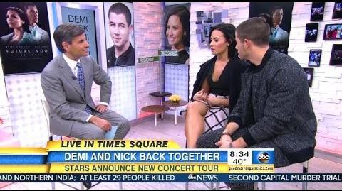 Demi Lovato & Nick Jonas - Chat Tour & New Record Label - GMA