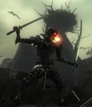 DemonsSouls DualKatanaSkeleton