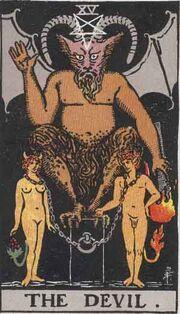 RWS Tarot 15 Devil