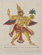 Garuda returning with the vase of Amrita