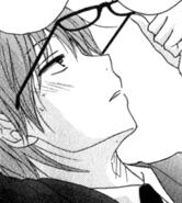 Kiyoshi puts glasses on
