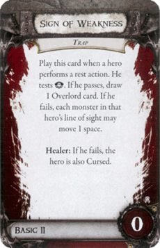 Overlord Card - Sign of Weakness