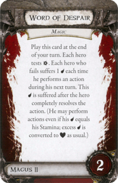 Overlord Card - Word of Despair