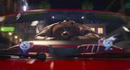 Bear in mike car