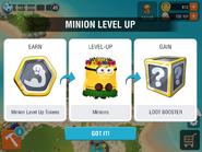Minion level up