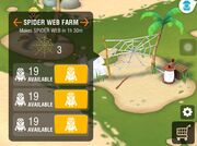 Spider web farm