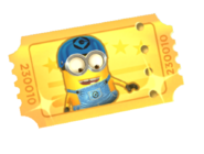Minion Rush Skater golden ticket