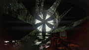 A guardian rises entrance to the Cosmodrome