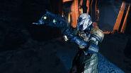 Warlock wielding a Thorn