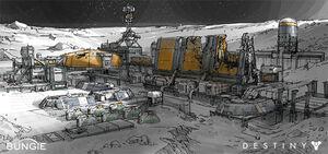Moonbase Concept Art - Dorje Bellbrook