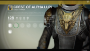 Crest of Alpha Lupi UI (Year 1 Hunter)