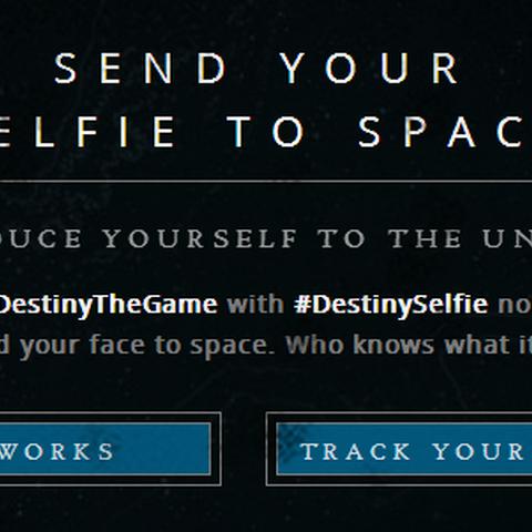 destinyselfie.com のフロントページ