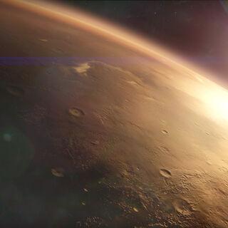 軌道上の火星。