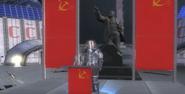 Cosmonaut Lenoid on Stage