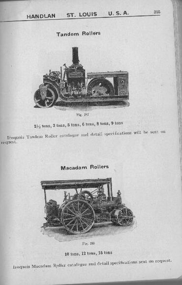 S Tandem roller and steam roller