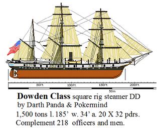 Dowden Class square rig steamer DD