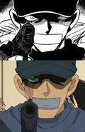 Scar Akai gun manga vs anime