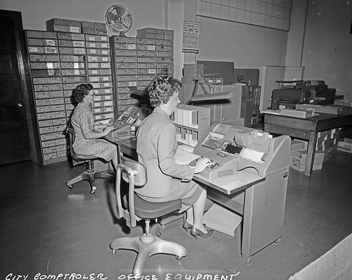 File:Comptroller's Office employees, 1960.jpg