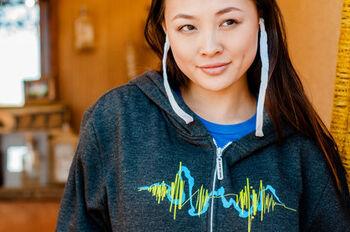 Soundwaves Headphone Hoodie
