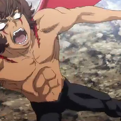 Akira in mid-transformation