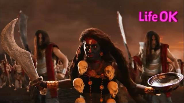 File:Goddess Kali Ready To Destroy Raktabeej's Armies.png