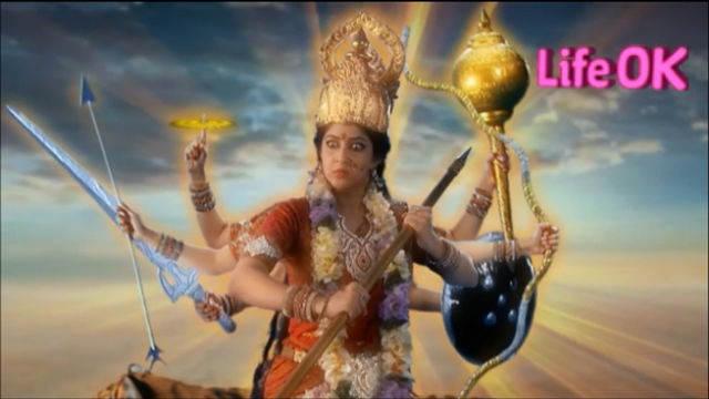 File:Eight-Armed Infuriated Goddess Durga Kills Durgasur.png