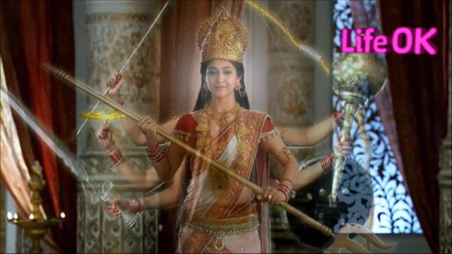 File:Eight-Armed Benevolent and Merciful Goddess Shakti.png