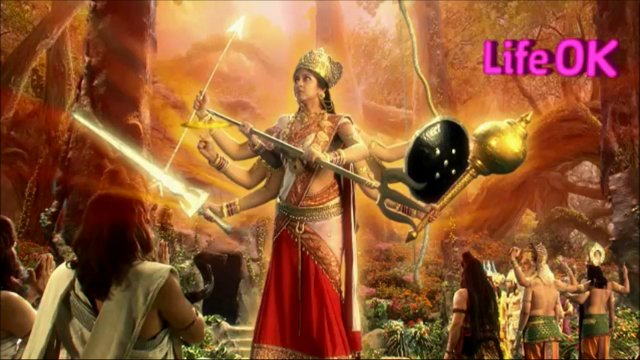 File:Eight-Armed Goddess Adishakti Starts Destroying The Creation.png